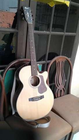 Gitar akustik elektrik cort L100 F NS