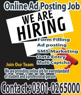 Correspondence ads posting job available for everyone at home
