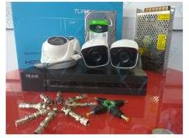 camera Paket CCTV 2MP~5mp murah, online via HP free pasang instalasi