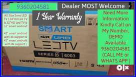 Imported SONY Led TV with Wall Mount Stand + Pendrive & 1 year warrant