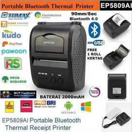 Printer Thermal Bluetooth Kasir USAHA Bonus Kerta 1 Roll