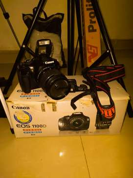 Urgent Sell DSLR Cannon Eos 1100D Camera With Accessories