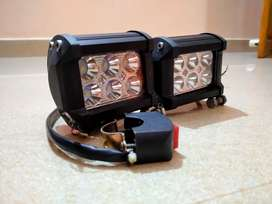 Fog lamps with on/off switch