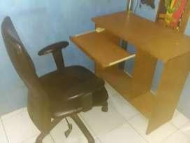 Kursi + meja komputer/belajar/kerja