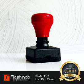 Flashindo Stempel Warna Kotak Besar Ukuran 35 x 35 mm Stempel Flash