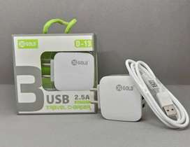 New Mobile Charger 3 USB sockets