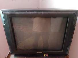 TV Sharp 20 inci lengkap dengan parabola
