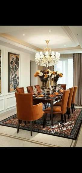 Elegant 12 Designs of Dining Table with 8 chairs
