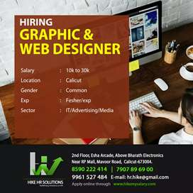 Hiring Web and Graphic designer