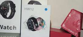 Smart watch hw12 black and blue colour