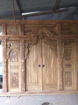 pintu ukir jati wilsamia