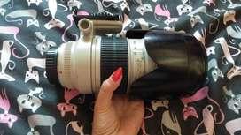 Lensa telle 70-200mm barang mulus 97 persen nominus