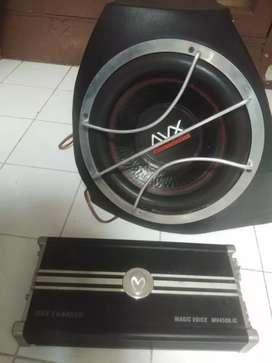 Jual cpt Audio mobil 3 pcs Subwoofer, Power 4 ChL + Monoblok Boom Bass