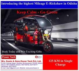 E-Rickshaw (Deltic-125 KM in One Charge)-Dealer: M/s SSPTPL