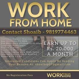 Customer Support Representative (Work form Home)