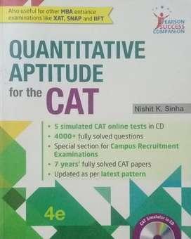 Quantitative aptitude book for cat exam