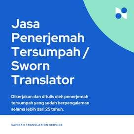 Jasa Penerjemah Tersumpah Indonesia - Inggris (VV)
