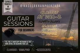 Guitar Classes for beginners home and in DHA 2 islamabad