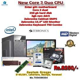 New pc c2d 2.8ghz g41bord 2gb DDR3 ram 250gb hdd 15.4led monitor 1y w