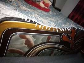 Double bed with 2 side table