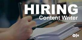 Hiring English Content writers urgent requirement