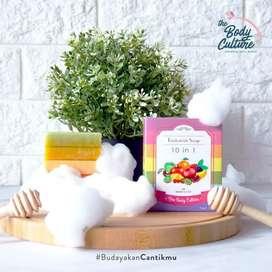 Fruitamin soap sabun pemutih tubuh original kulit halus mulus bpom