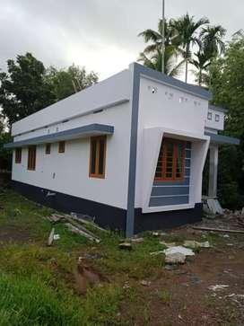 New build 750 sqft 2 bhk house at aluva paravur road Malikampeedika