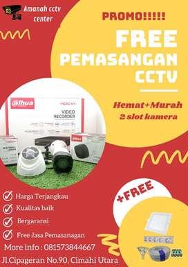 (free pemasangan) CCTV 2 SLOT KAMERA HEMATMURAH BERHADIAH PANEL LIGHT
