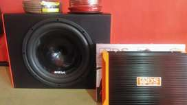 Subwoofeer 12 inchi+Box sub mdf+Power 4 Chnl+Instalasi+Psang