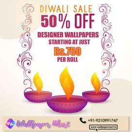 Diwali Wallpaper Sale in Noida - Starting from Rs. 750 per roll