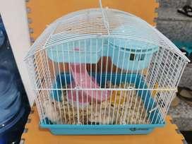 2 Hamster + Kandang + Makanan + Acc