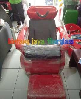 kursi keramas salon merah rangka jok hitam