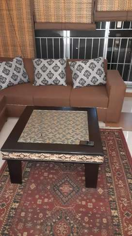 7 seater sofa and table
