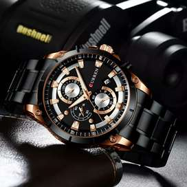 Jam tangan Mewah Pria CURREN Chronograph Style