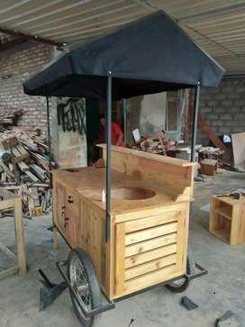 Both gerobak kayu Jati belanda