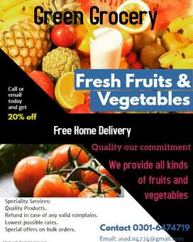 Fruit and Vegetable Delivery all over lahore