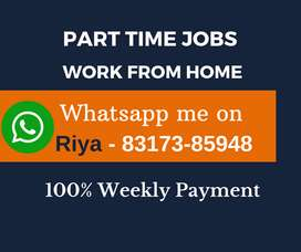 Great opportunity for everyone. Data entry jobs. Earn daily Rs.1300/-