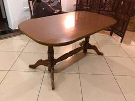Dining table wooden with 4 chairs
