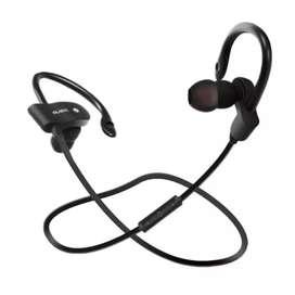 Headset Bluetooth Dual Earphone Sport Musik Telepon Microphone