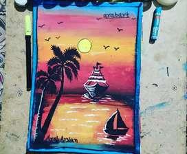 Sunsat painting