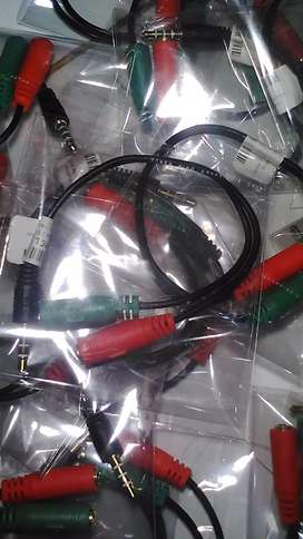 Adapter Splitter Aux Male To 3,5mm Female Output Headset n Microphone
