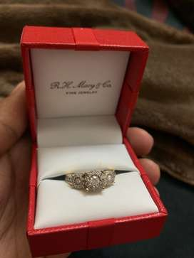 Engagement Ring- Real gold and diamond ring