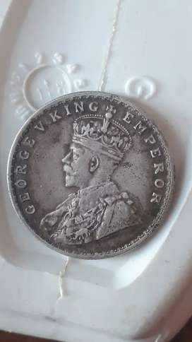 GEORGE V KING EMPEROR .COIN SILVER
