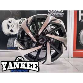 Cicil Velg Mobil DP 10% HSR Wheel VERANO Ring 17 HOLE 5X114,3 BMF