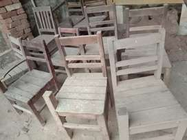 Small chairs only in 250 rupees per chair
