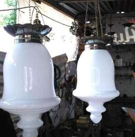 Lampu antik gantung dinding stand kuningan murah