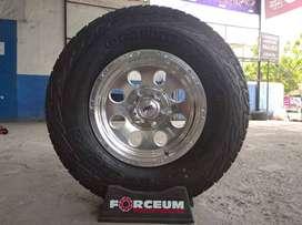 Velg Mobil + Ban 265/75 R16 A/T untuk Hilux Double, Mazda BT50 dll