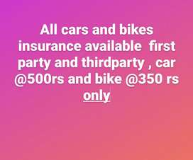 third party insurance available  all bikes and cars