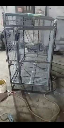 Dog Cage for all sizes with cleaning tray underneath the cage
