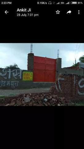 Plot on mathura highway on toll tax corner plot